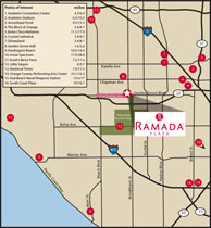 Anaheim/Graden Grove Area Map
